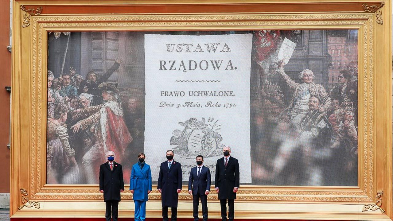 Uroczystość z okazji 230. rocznicy uchwalenia Konstytucji 3 Maja (fot. Adam Guz/KPRM)