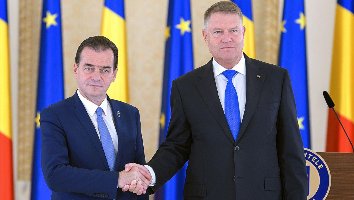 Ludovicia Orbana desygnował na premiera prezydent Klaus Iohannis (fot. PAP/ EPA/DRAGOS ASAFTEI)