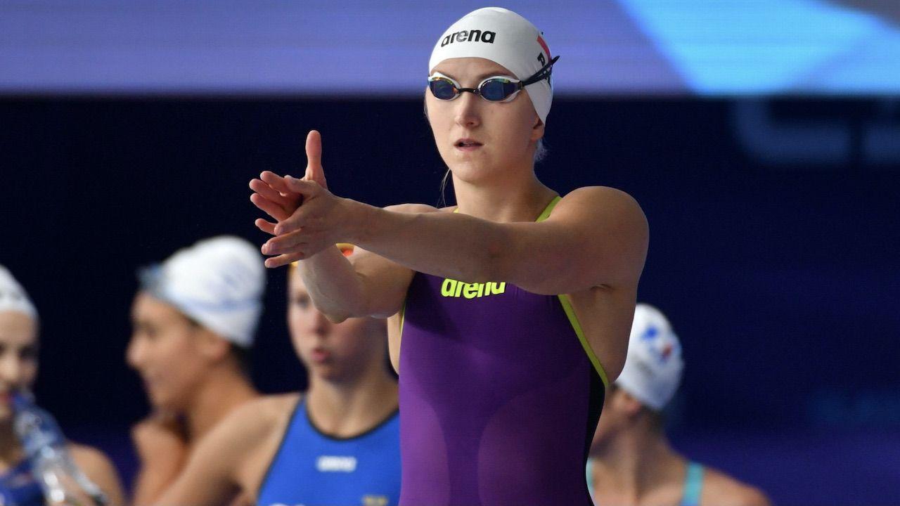Katarzyna Wasick została srebrną medalistką mistrzostw Europy w pływaniu (fot. PAP/Bartłomiej Zborowski)