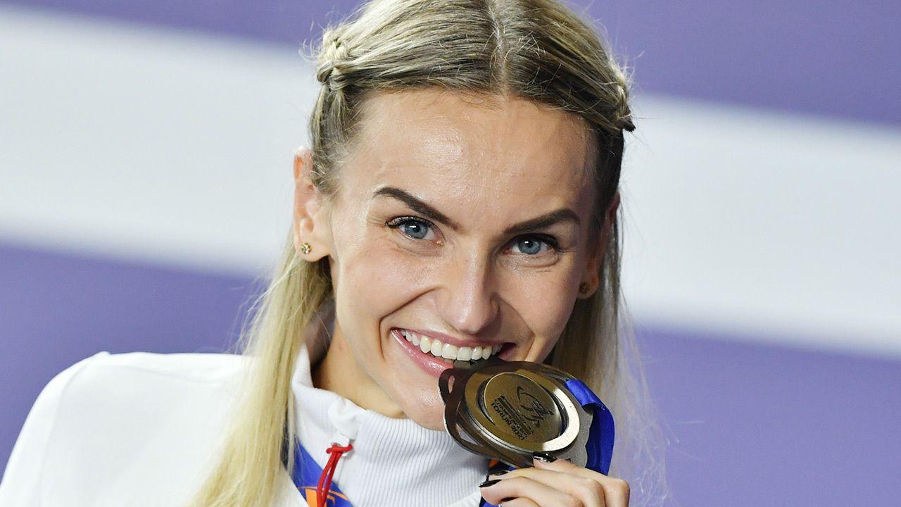 Justyna Święty-Ersetic ma szansę zdobyć drugi medal podczas toruńskich mistrzostw (fot. PAP/Adam Warżawa)