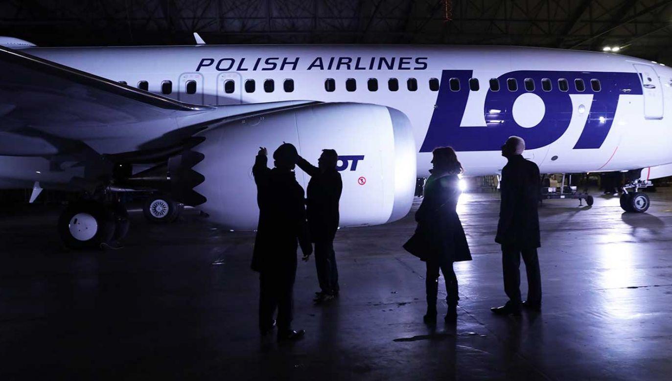 PLL LOT zastąpiły boeingi 737 MAX innymi maszynami. Ograniczyły w ten sposób straty, ale nie wyeliminowały ich całkowicie (fot.  arch. PAP/Tomasz Gzell)