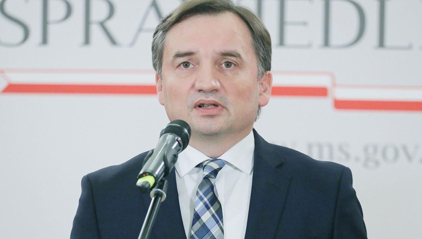 Minister Sprawiedliwości Prokurator Generalny Zbigniew Ziobro (fot. PAP/Paweł Supernak)