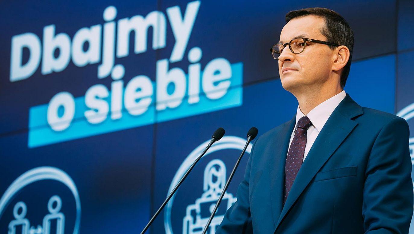Premier zapowiedział, że ograniczenia związane z drugą falą koronawirusa będą mniej dotkliwe dla gospodarki (fot. Krystian Maj/KPRM)