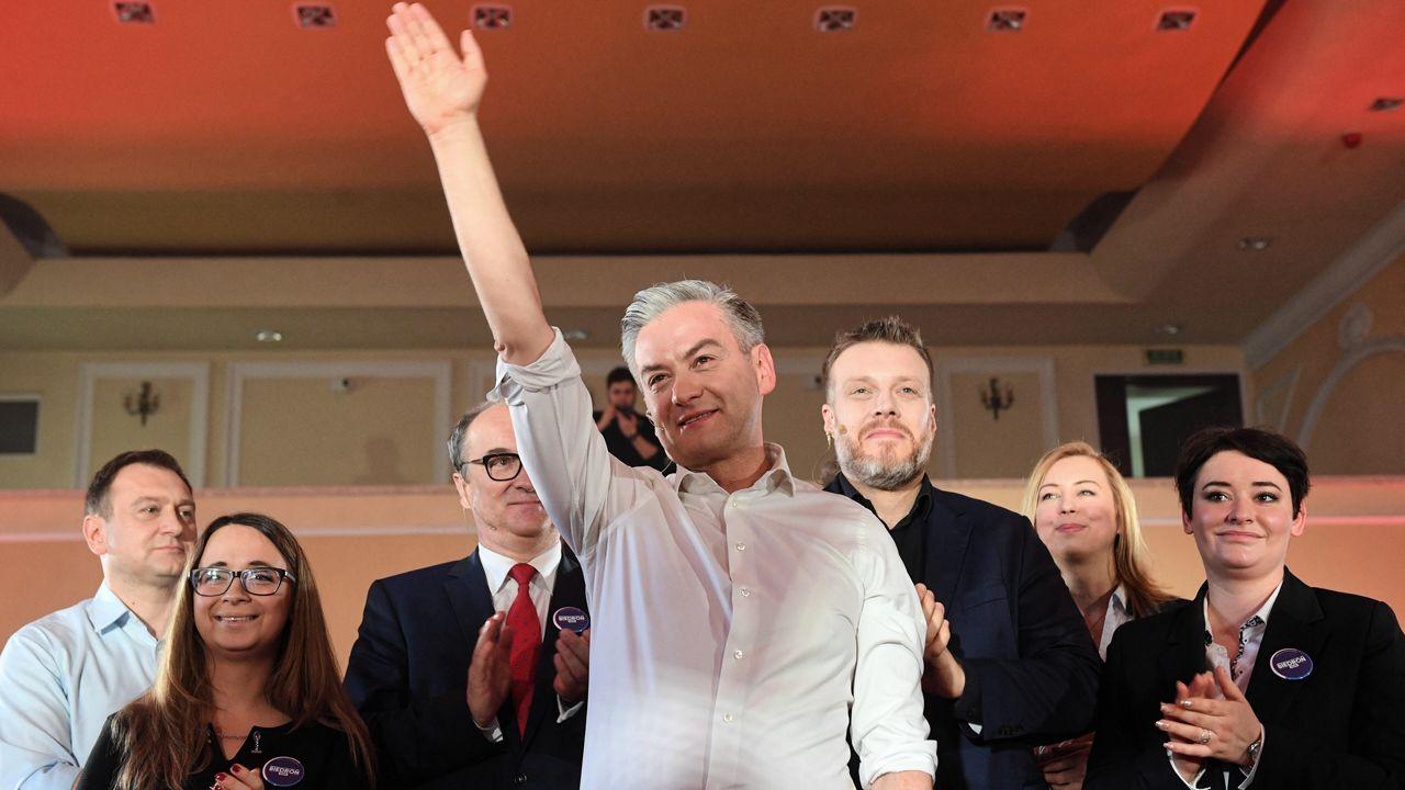 "Ochronę życia Robert Biedroń nazwał ""piekłem kobiet"" (fot. PAP/Radek Pietruszka)"