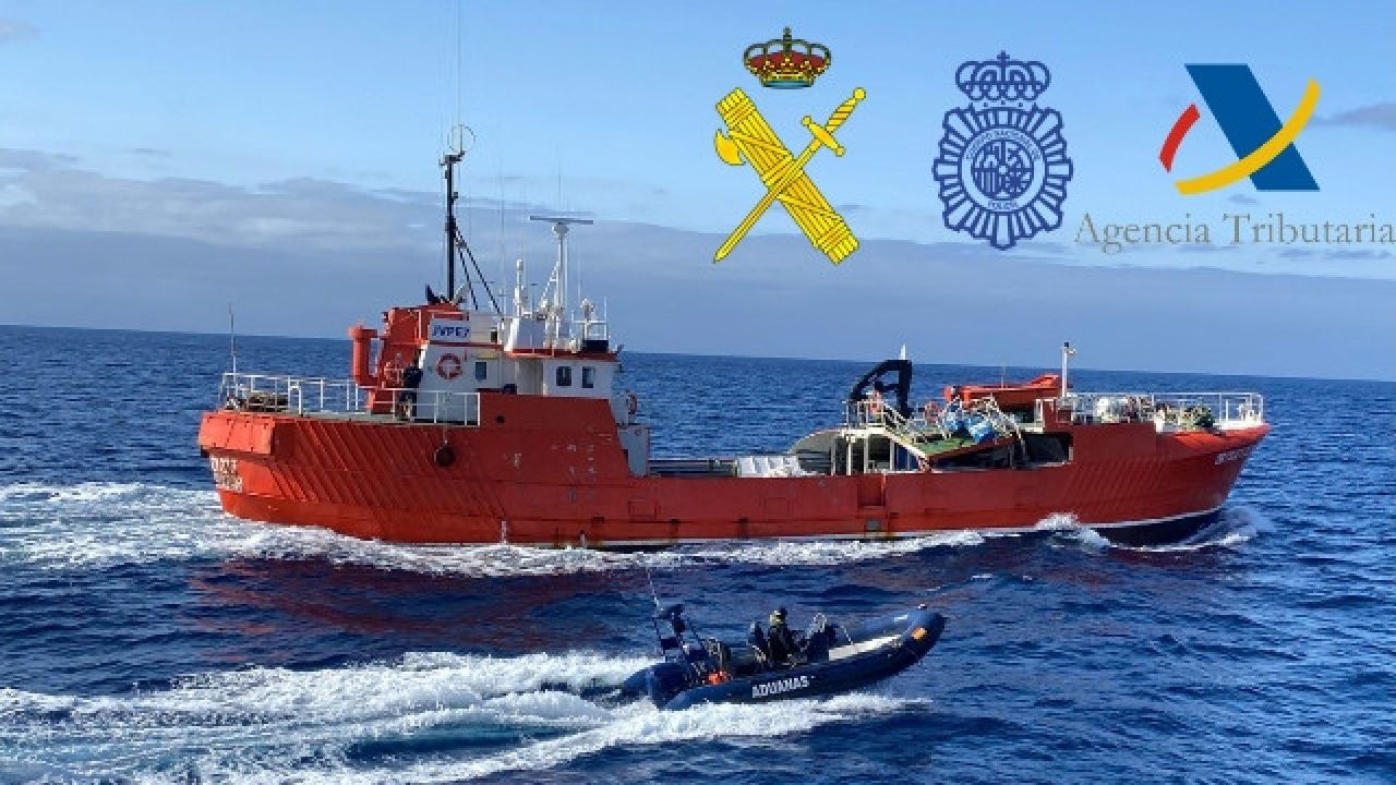 Przemytnicy stracili towar wart w detalu kilkanaście milionów euro (fot. Guardia Civil)