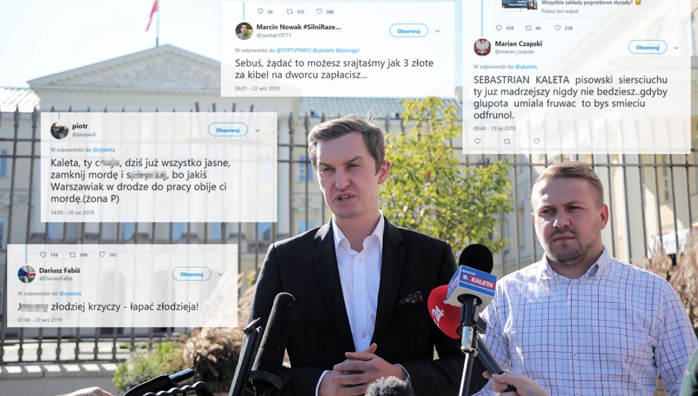 W niedzielę przed warszawskim ratuszem odbyła się konferencja ws. SokuzBuraka (fot. PAP/Wojciech Olkuśnik/twitter)