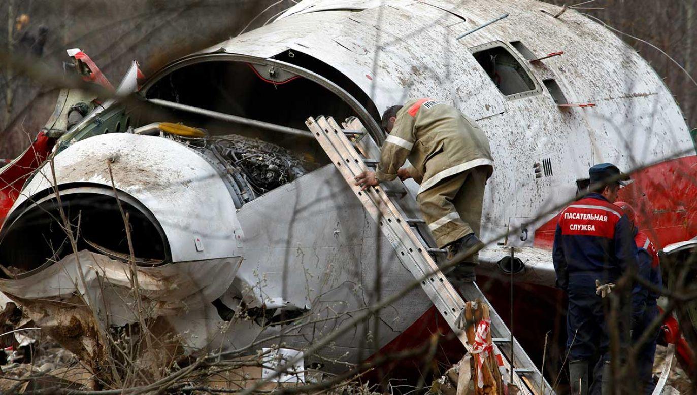 Wrak Tu-154M (fot. REUTERS/Sergei Karpukhin)