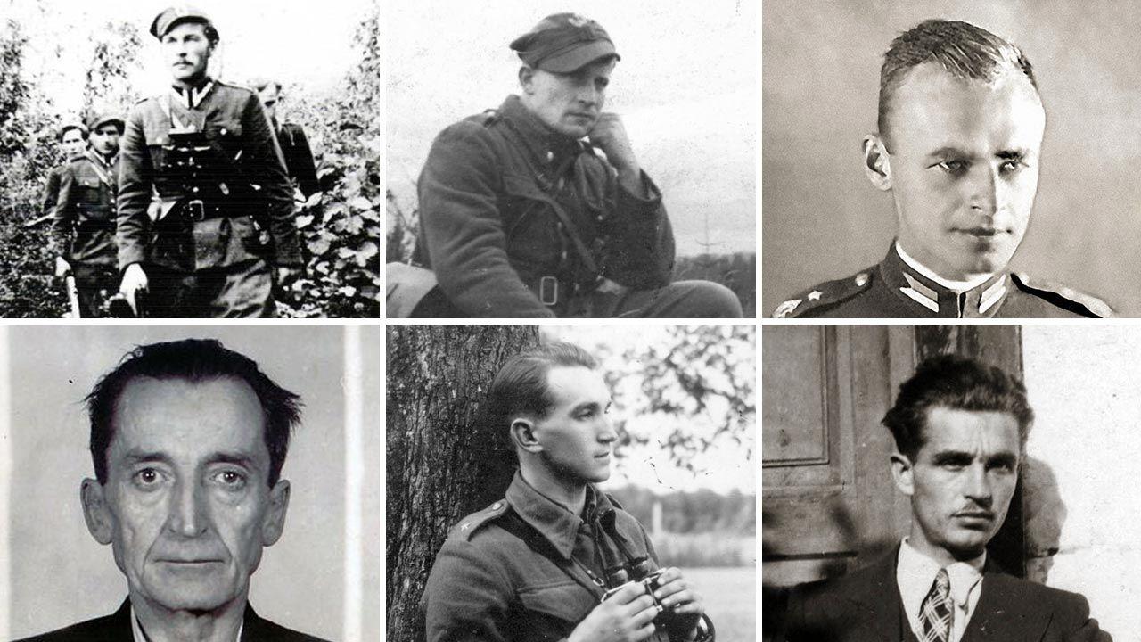 Sylwetki najbardziej znanych żołnierzy wyklętych (fot. IPN; PAP)