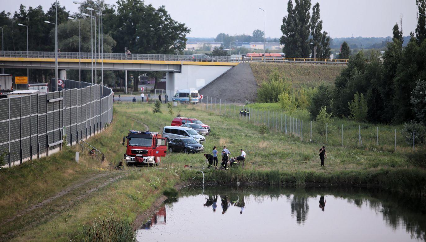 Ciało dziecka odnaleziono w sobotę w okolicach węzła Pruszków (fot. PAP/Leszek Szymański)