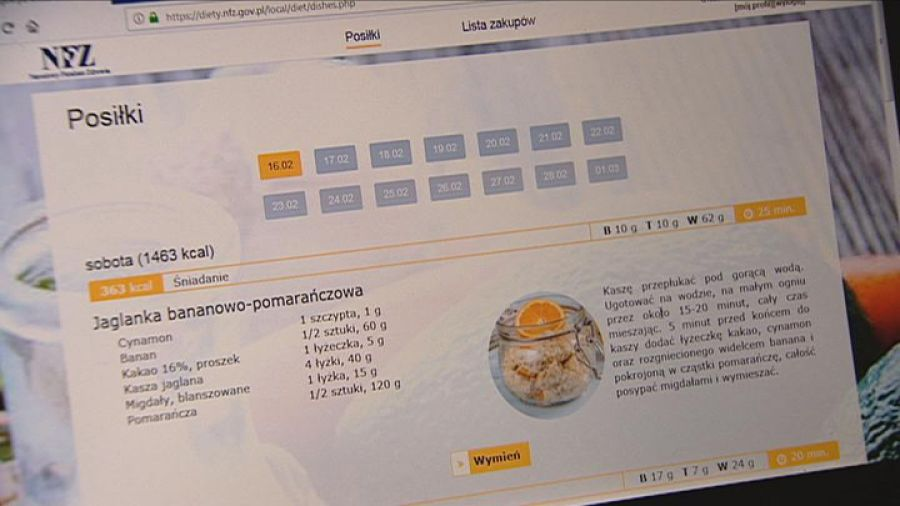 Narodowy Fundusz Zdrowia Uruchomil Portal Z Darmowymi Dietami Tvp3