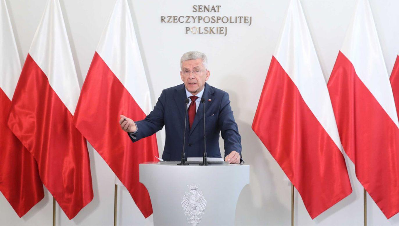 Stanisław Karczewski był marszałkiem Senatu w mijającej kadencji (fot. PAP/Tomasz Gzell)