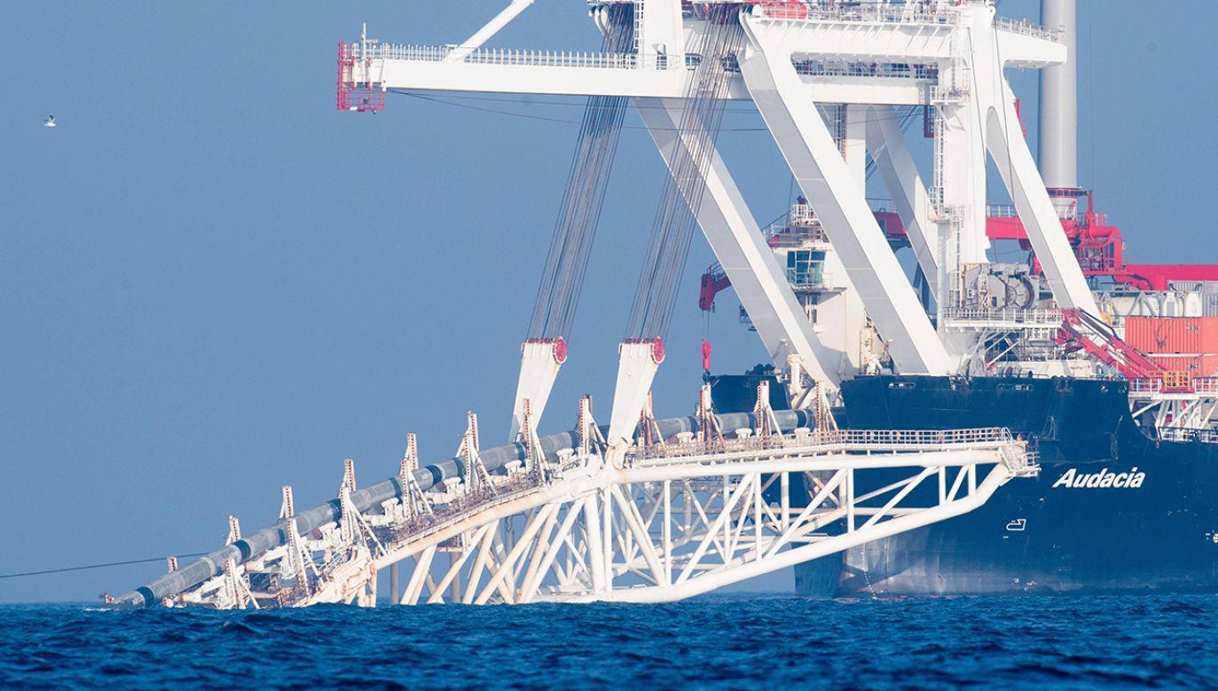 Nord Stream 2 zacznie najprawdopodobniej działać w połowie 2020 roku (fot. PAP/DPA/Stefan Sauer)
