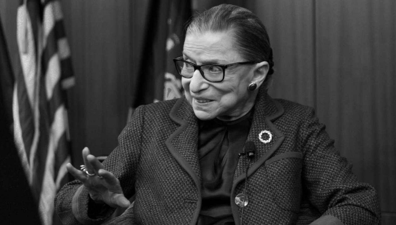 Sędzia Ruth Bader Ginsburg miała 87 lat  (fot. PAP/EPA/JUSTIN LANE)