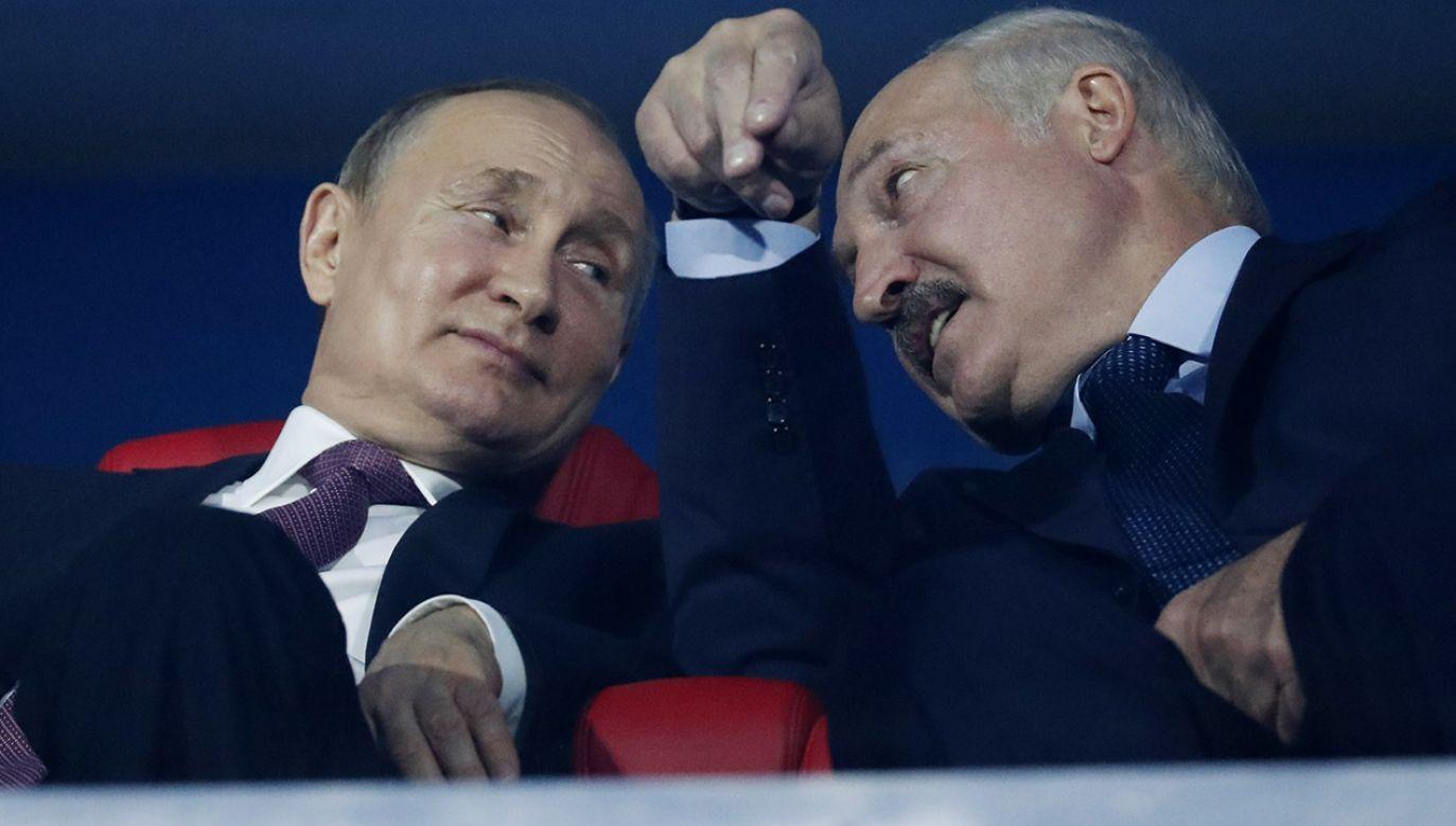 Prezydenci Rosji Władimir Putin i Rosji Aleksander Łukaszenka (fot. REUTERS/Vasily Fedosenko)