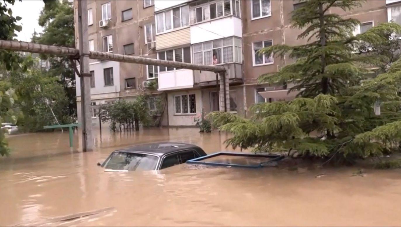 Zalane ulice Krymu (fot. EBU/ROSSIJSKOE TELERADIO)