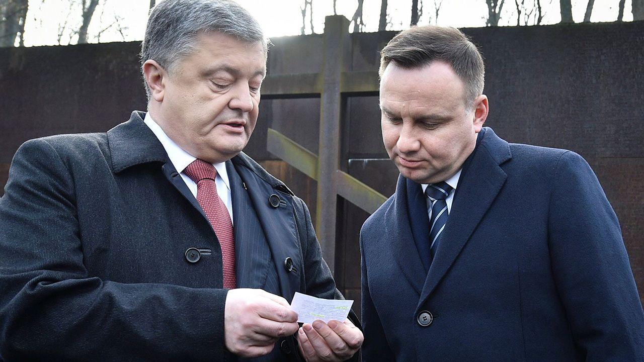 Petro Poroszenko i Andrzej Duda (fot. Mykola Lazarenko/Ukrainian Presidential Press Service/Handout via REUTERS)