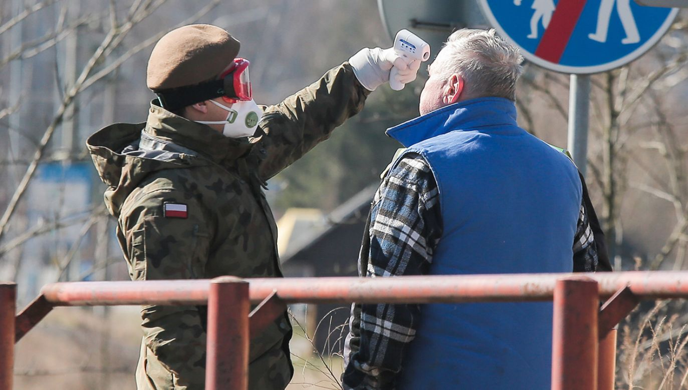 Wojsko współpracuje z innymi służbami mundurowymi i z Ministerstwem Zdrowia (fot. Krzysztof Zatycki/NurPhoto via Getty Images)