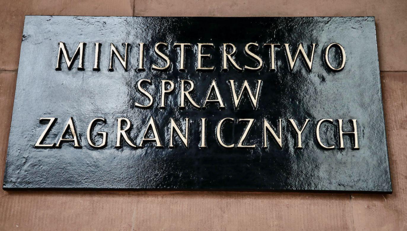 MSZ wydaliło z Polski trzech pracowników rosyjskiej ambasady (fot. arch.PAP/Wojciech Olkuśnik)