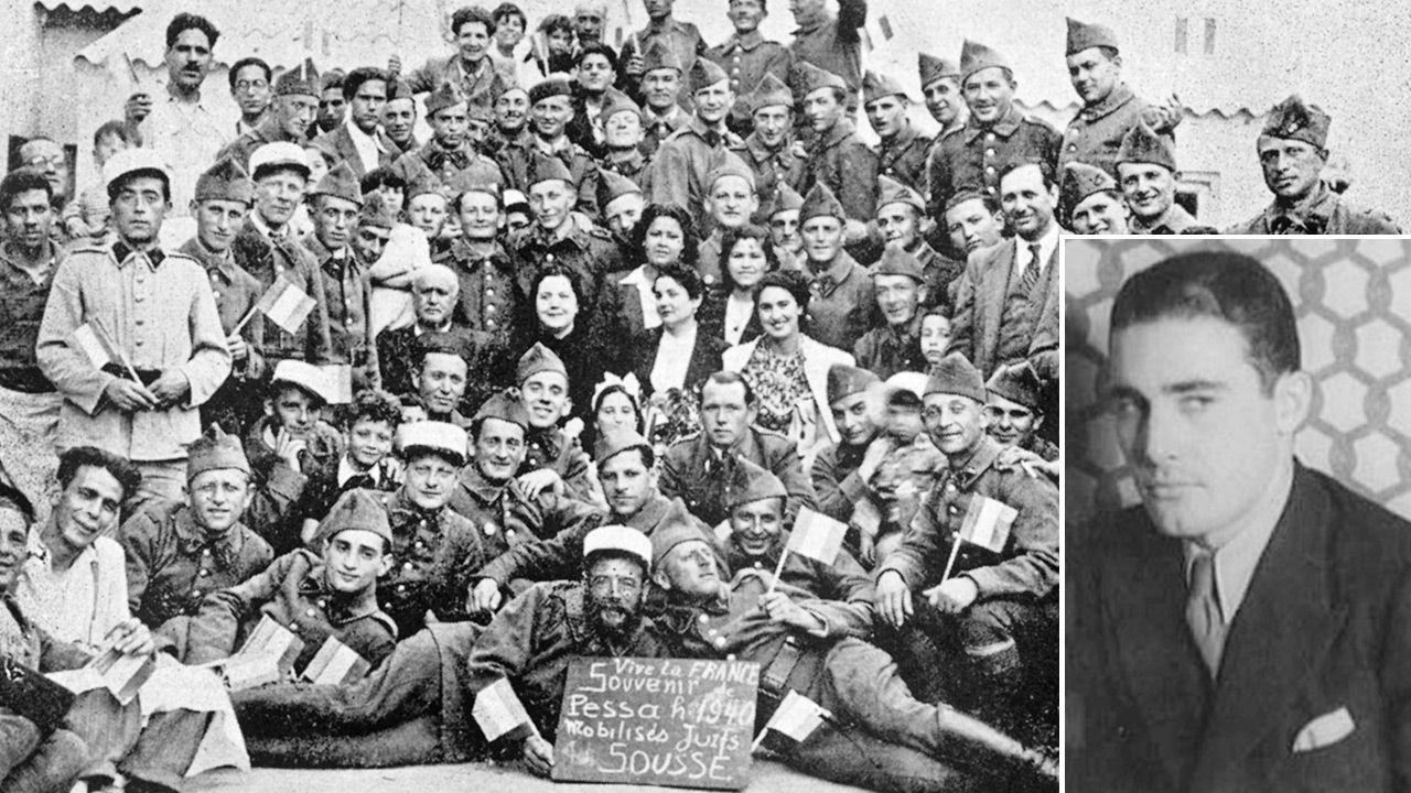 Żydowscy ochotnicy we francuskiej armii w Tunezji / Khaled Abdul-Wahab (fot. Wikipedia; Apic/Getty Images)