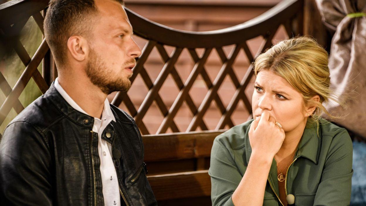 Dawid w rozmowie z Martą wrócił do niezbyt przyjemnych dla niego wydarzeń z poprzednich dni (fot. TVP)