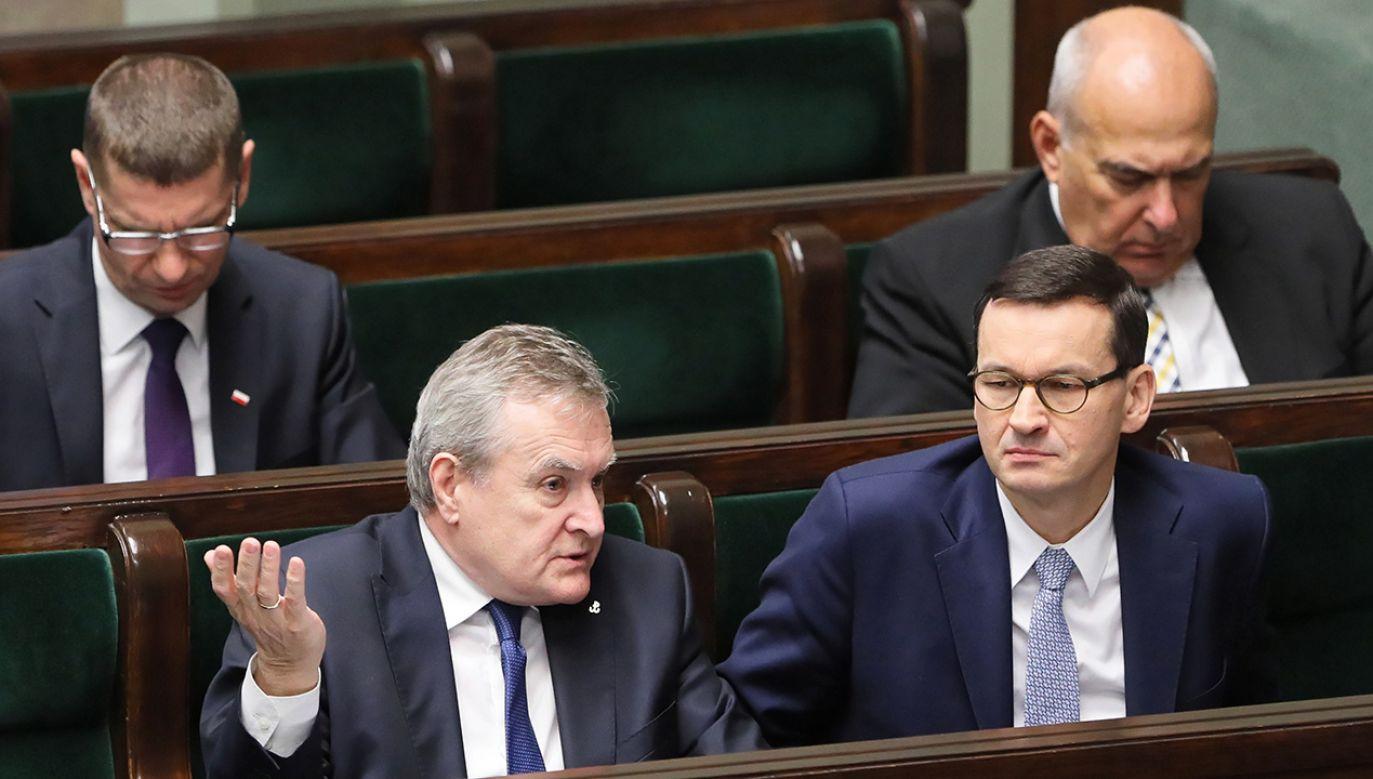 Exposé premiera Morawieckiego  (fot. PAP/Paweł Supernak)