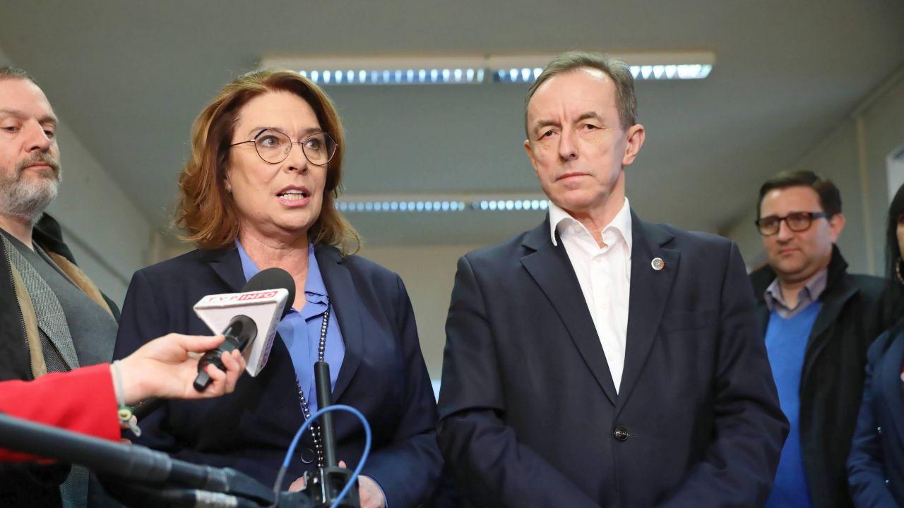 Małgorzata Kidawa-Błońska i Tomasz Grodzki (fot. PAP/Leszek Szymański)