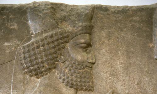 Uszy zdobiono w Persji i za czasów króla Dariusza Wielkiego (521-485 p.n.e.). Relief z Muzeum Archeologicznego w Teheranie. Fot. PHAS/Universal Images Group via Getty Images