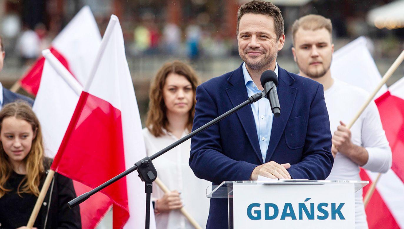 Rafał Trzaskowski podczas wizyty w Gdańsku (fot. PAP/Jan Dzban)