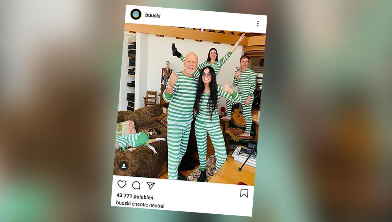 Nie wiadomo, czy aktor wpadł do Demi z odwiedzinami, czy może mieszkają teraz wspólnie (fot. Instagram/buuski)