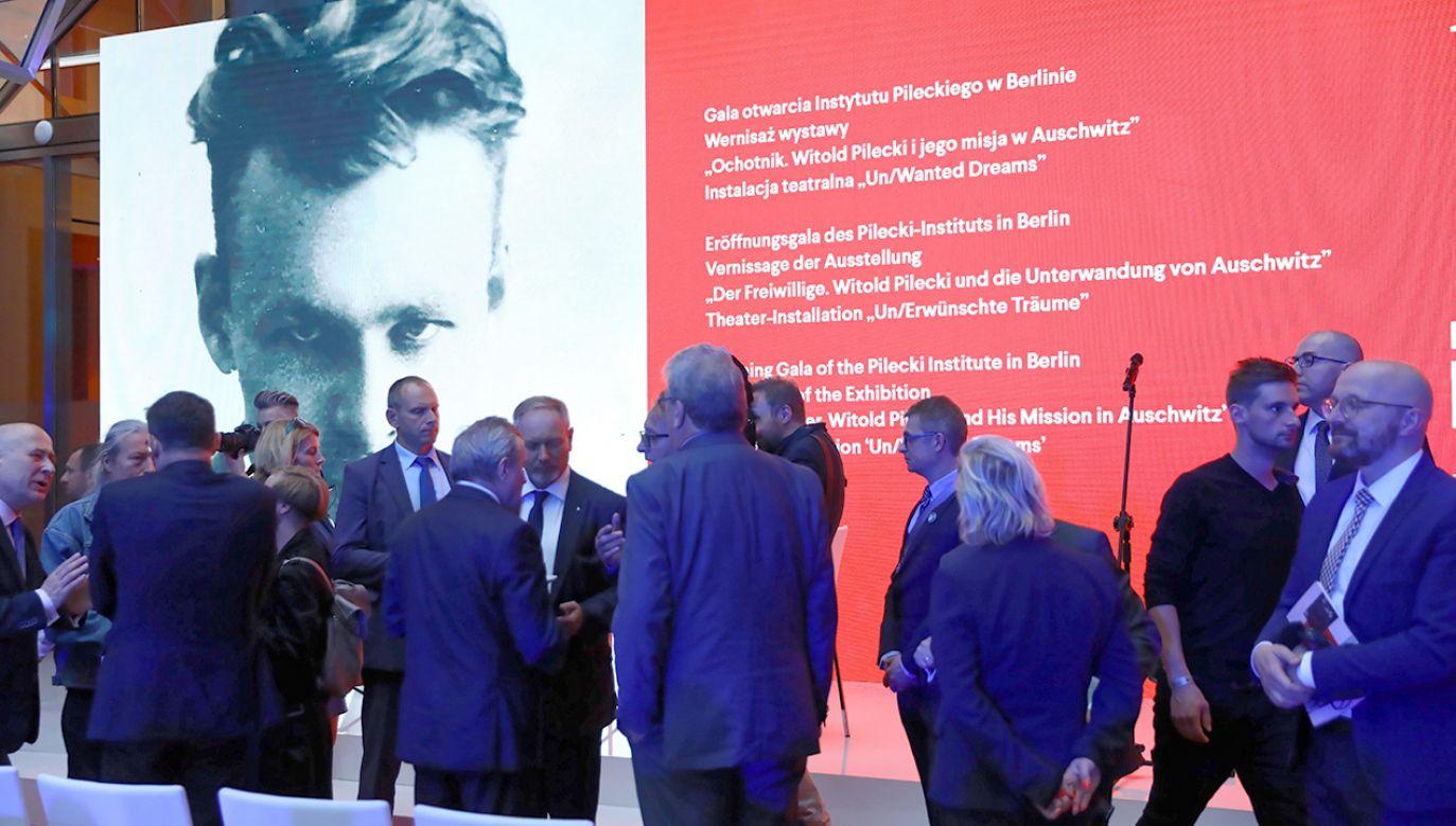 Inauguracja działalności pierwszego zagranicznego oddziału Instytutu Pileckiego, 16 bm. w Berlinie (fot. PAP/Rafał Guz)