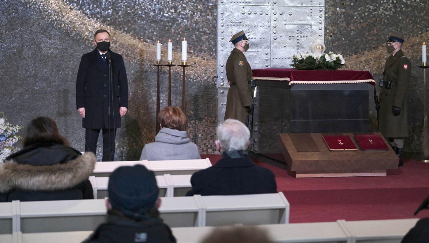 Uroczystości pogrzebowe Lidii Lwow-Eberle (fot. PAP/Mateusz Marek)