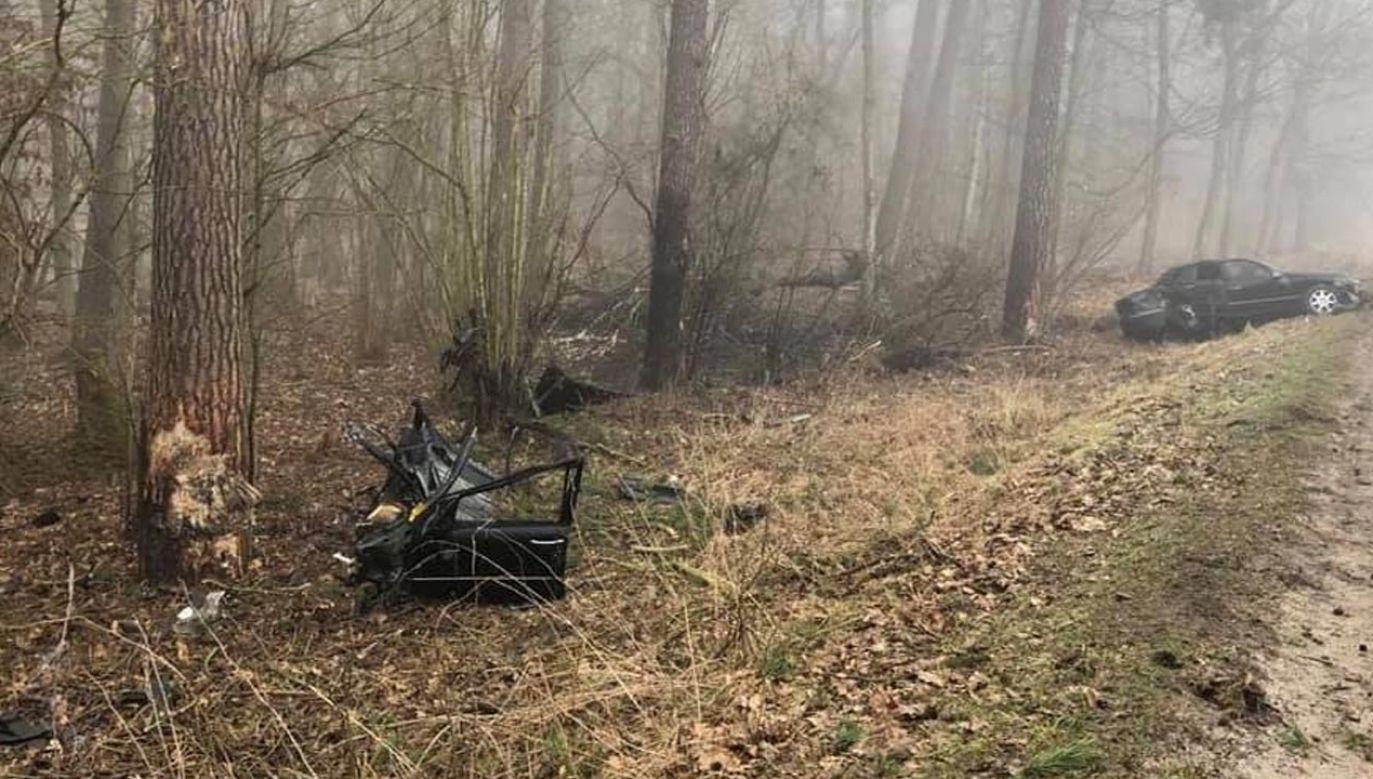 Kierujący stracił panowanie nad pojazdem (fot. Policja)