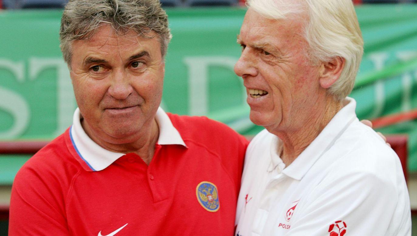 Guus Hiddink (L) i Leo Beenhakker w 2007 roku (fot. Getty)