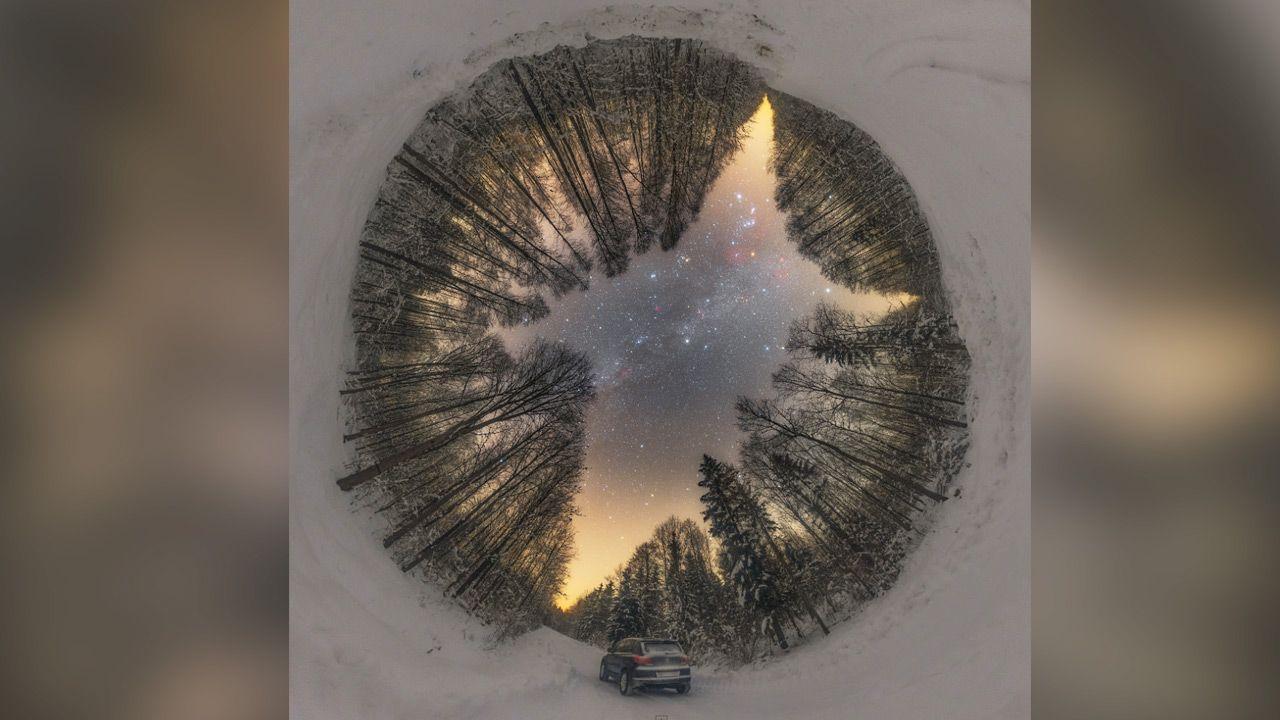 Zdjęcie zrobiono w pobliżu miejscowości Siemionów w północno-wschodniej Polsce (fot.  Lukasz Zak (nasa.gov))