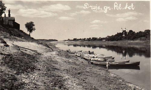 Druja, rzeka Dźwina przed 1939 rokiem. Fot. Wikimedia/ Biblioteka białoruska i Francis Skaryna Museum w Londynie