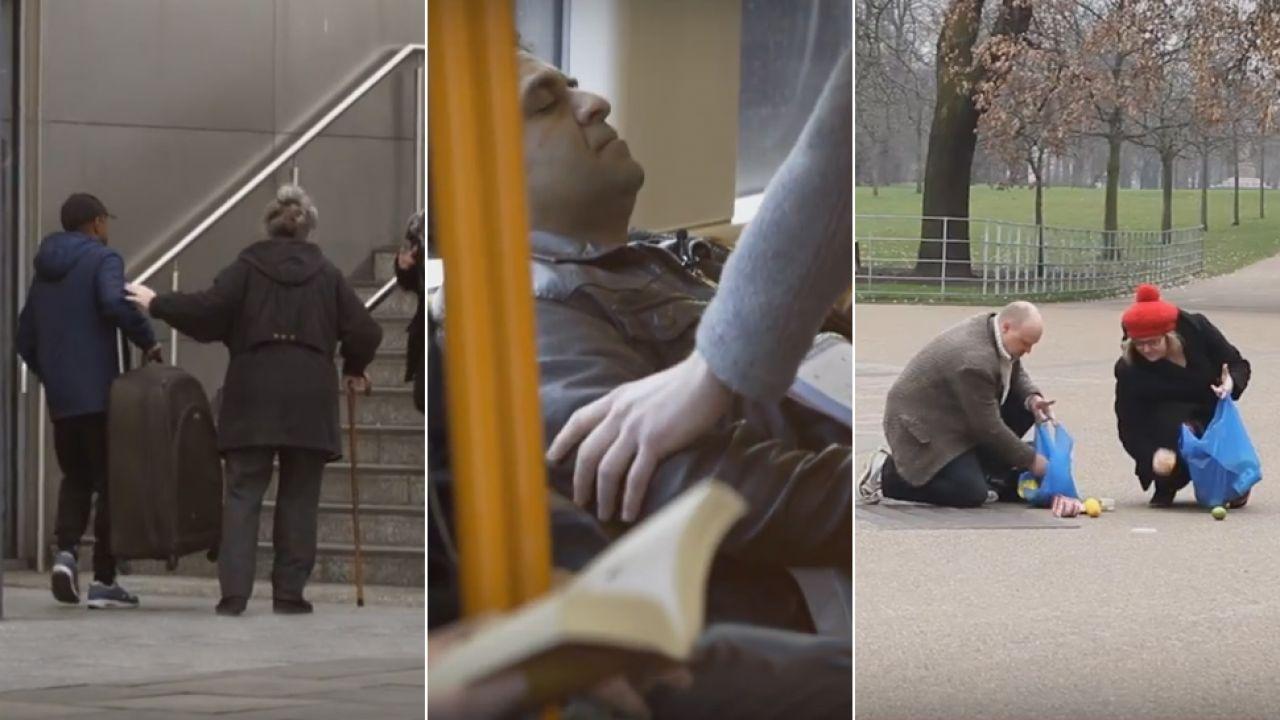 Eksperyment społeczny pokazał prawdę o mieszkańcach Londynu (fot. YouTube)