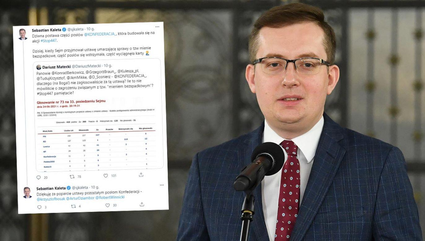 Konfederacja zaskoczyła w Sejmie. Robert Winnicki przeprasza (fot. PAP/Radek Pietruszka)