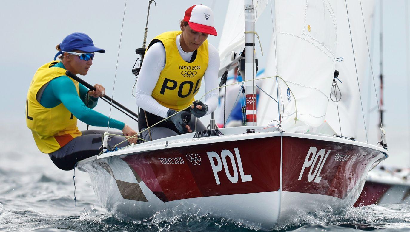 Agnieszka Skrzypulec i Jolanta Ogar-Hill spadły w klasyfikacji generalnej na trzecią pozycję (fot. PAP/EPA/CJ GUNTHER)
