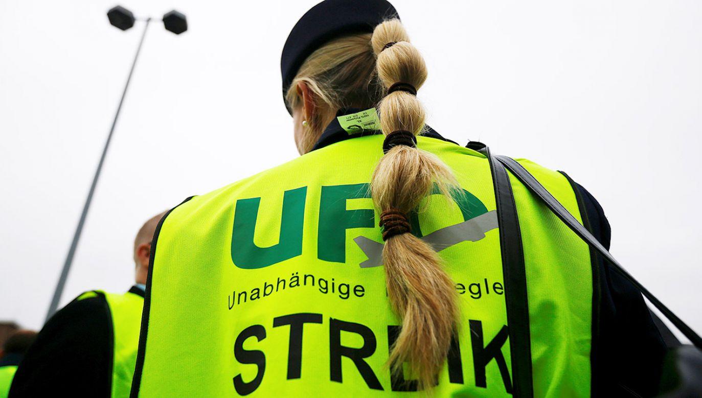 """""""Strajki UFO w Lufthansie są nielegalne"""" – wskazuje przewoźnik (fot. REUTERS/Wolfgang Rattay)"""