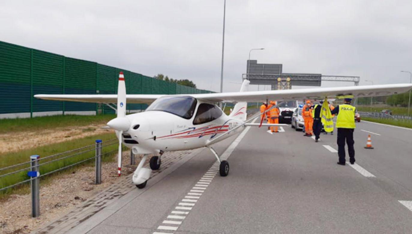 Pilotowi nic się nie stało (fot. Policja)