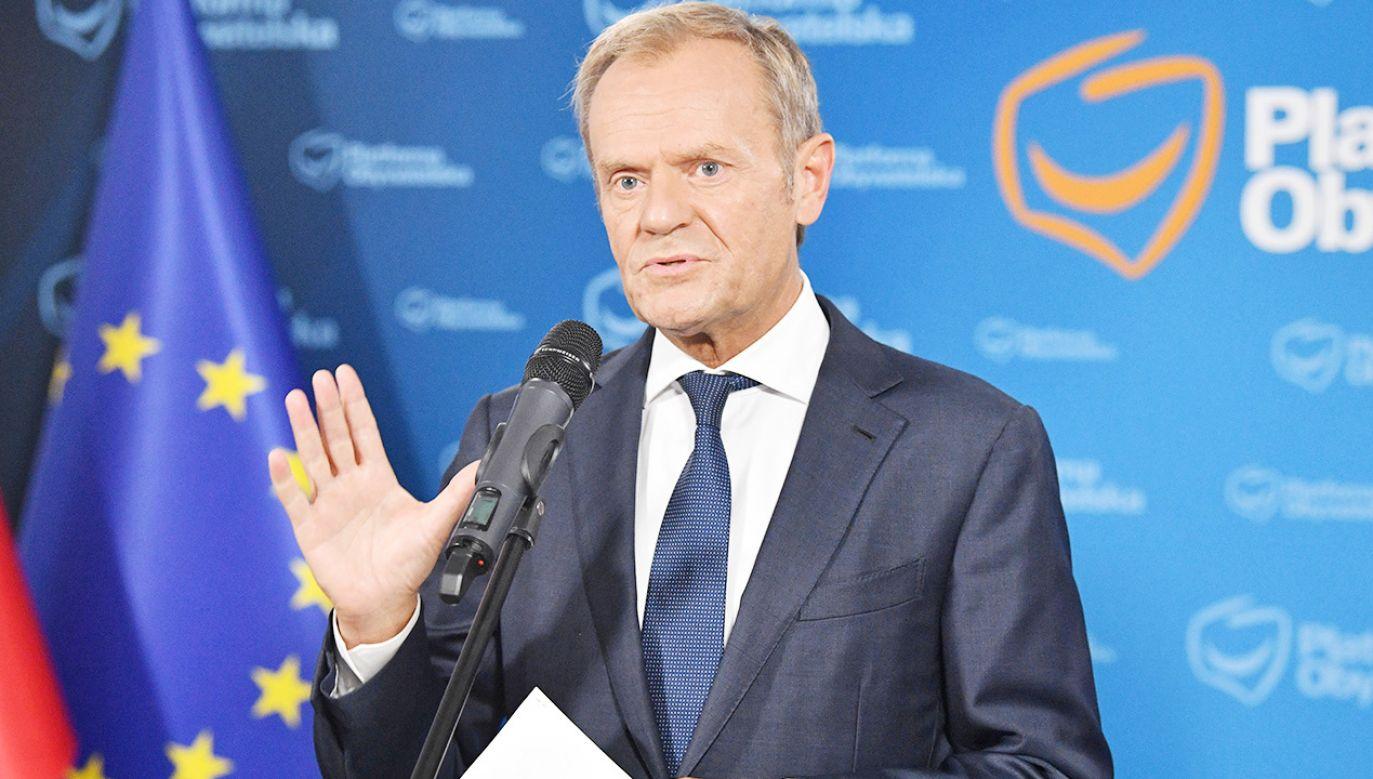 Donald Tusk (fot. PAP/Radek Pietruszka)