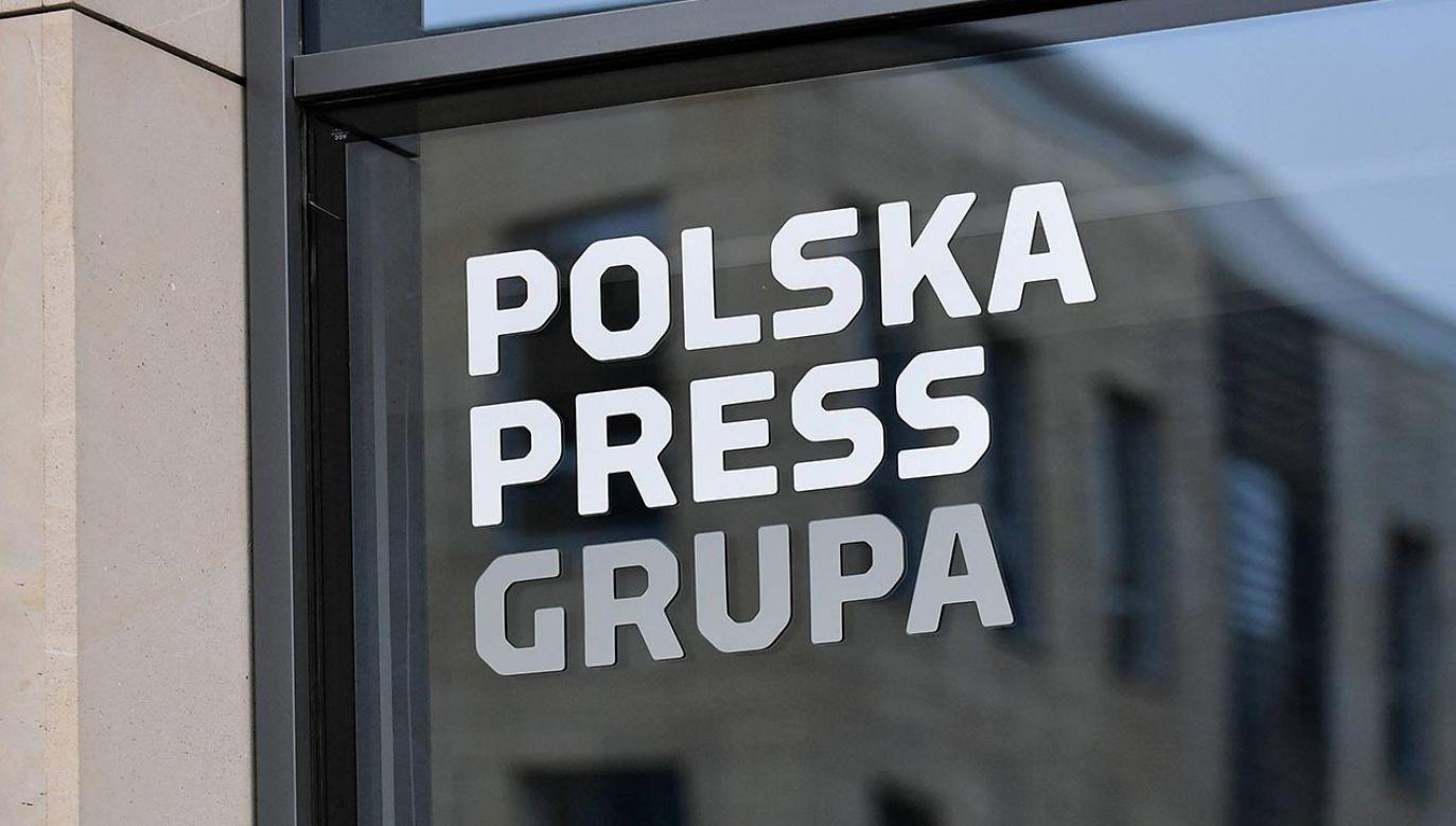 Jacek Sasin  o wstrzymaniu przejęcia przez PKN Orlen  Polska Press (fot. PAP/Marcin Obara)
