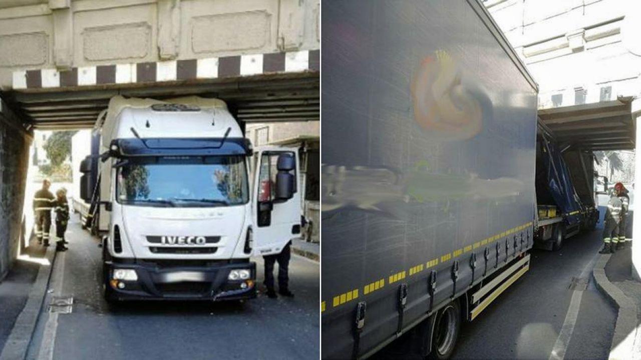 Konieczne było rozmontowanie części kontenera i spuszczenie powietrza z opon (fot. Vigilfuoco.it)