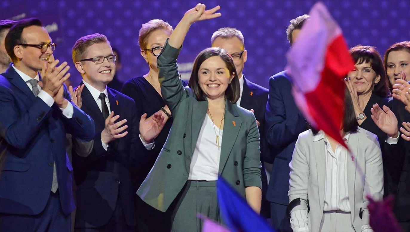 Kalina Michocka pomagała Robertowi Biedroniowi w układaniu programu Wiosny (fot. arch. PAP/Jakub Kamiński)