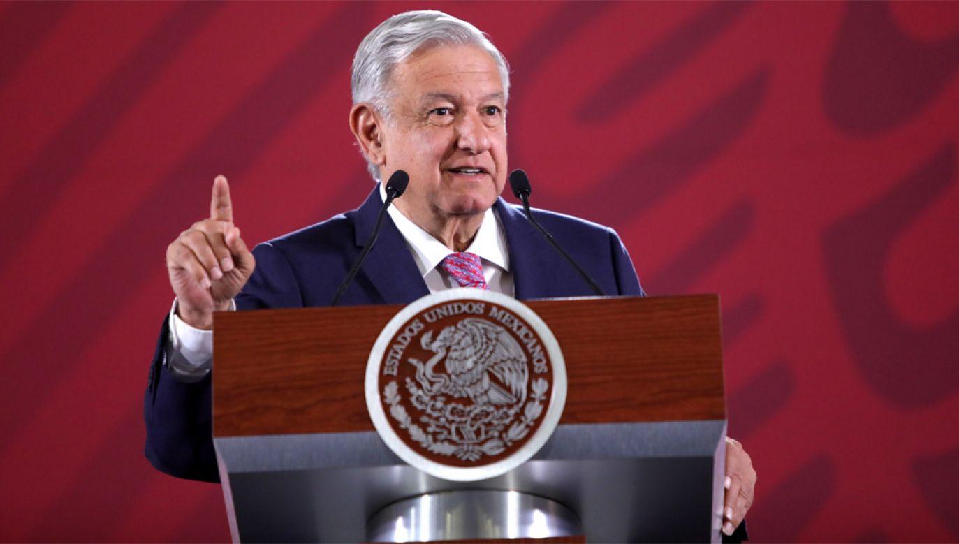 Prezydent Meksyku Andres Manuel Lopez Obrador (fot. PAP/EPA/Sashenka Gutierrez)