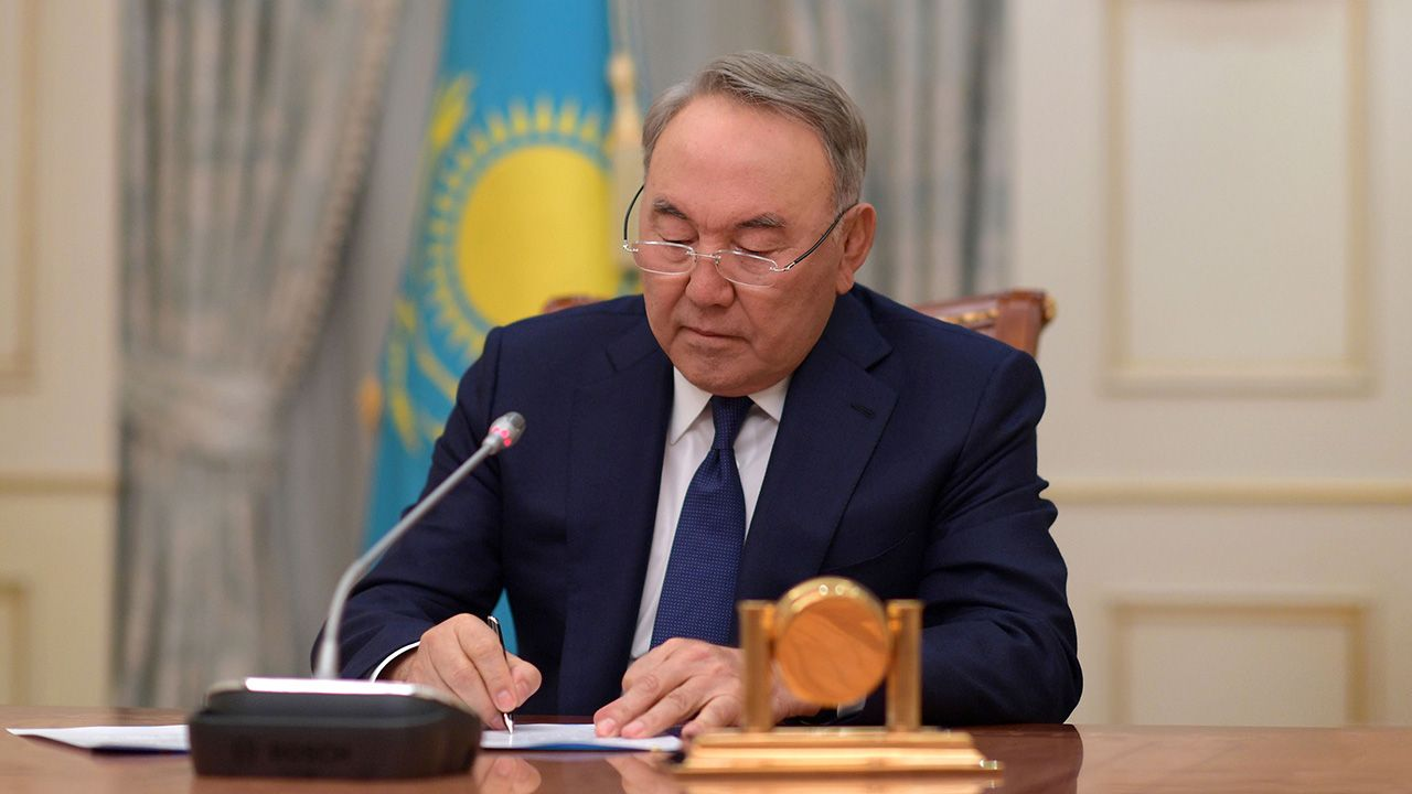 79-letni polityk sprawował ten urząd od 1991 roku (fot. REUTERS/Kazakh Presidential Press Service/Handout)