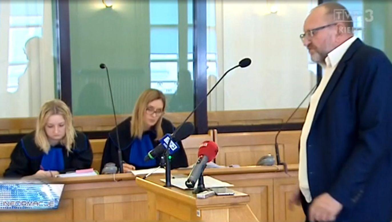 Sąd rozpatrywał sprawę o zadośćuczynienie dla Józefa Durnogi (fot. TVP3)