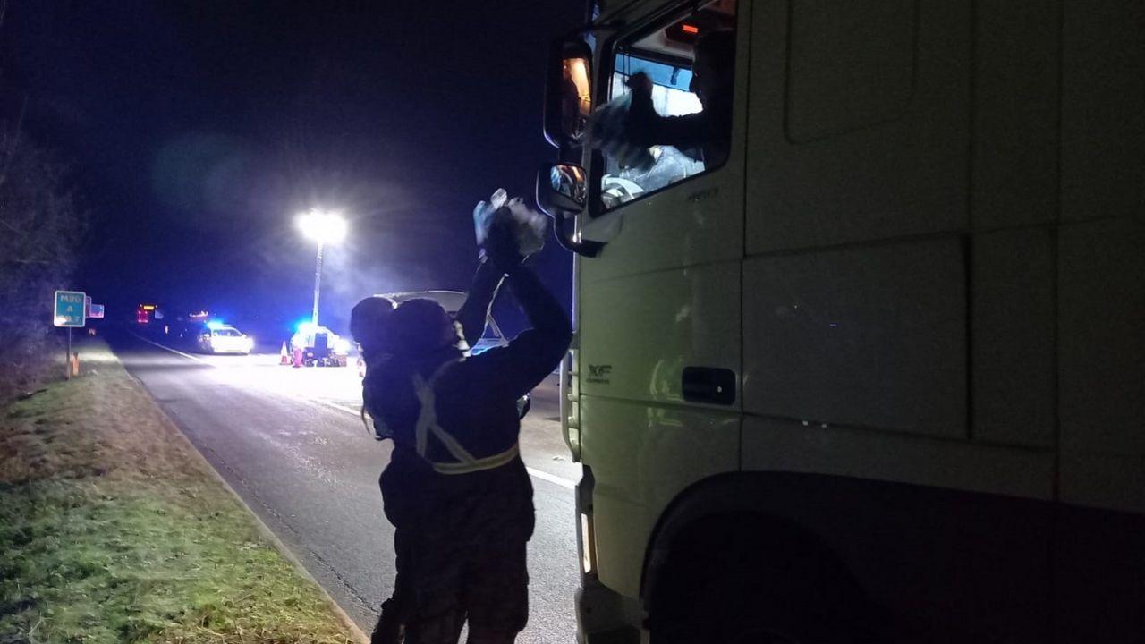 Żołnierze WOT pracowali w Dover, w Manston i na autostradzie M20 (fot. TT./terytorialsi)