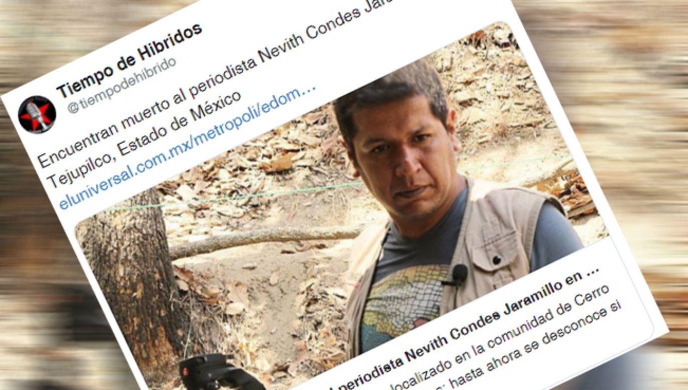 Zamordowany dziennikarz miał 42 lata (fot. Twitter/@tiempodehibrido)