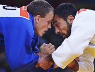 Litwin Karolis Bauza przegrał w 1/8 finału z Grekiem Iliasem Iliadisem (fot. PAP/EPA)